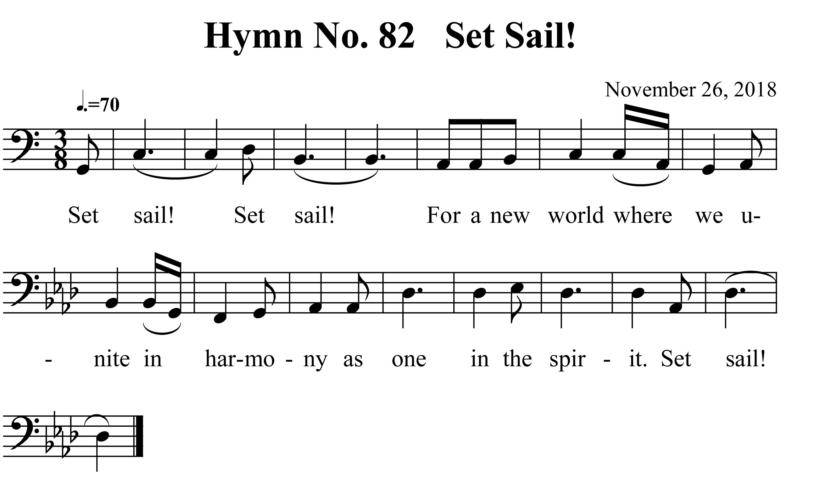 Hymn No. 82   Set Sail!