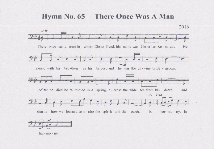 Hymn No. 65 There Once Was A Man1